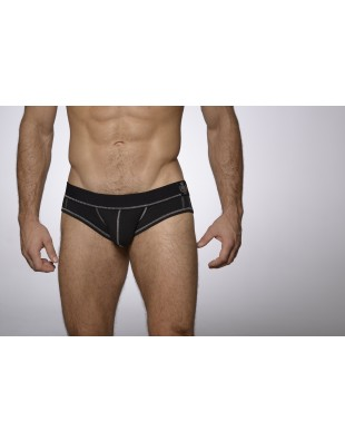 Sensation Series Mini Brief (Black & Silver)